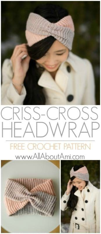 Criss-Cross Headwrap #knitheadbandpattern