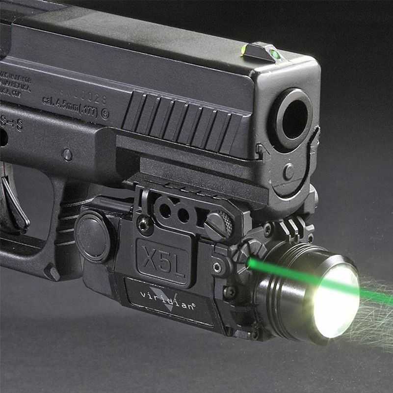 Mount Laser For Taurus Revolvers: Tactical Green Laser Sight With LED Flashlight Combo With