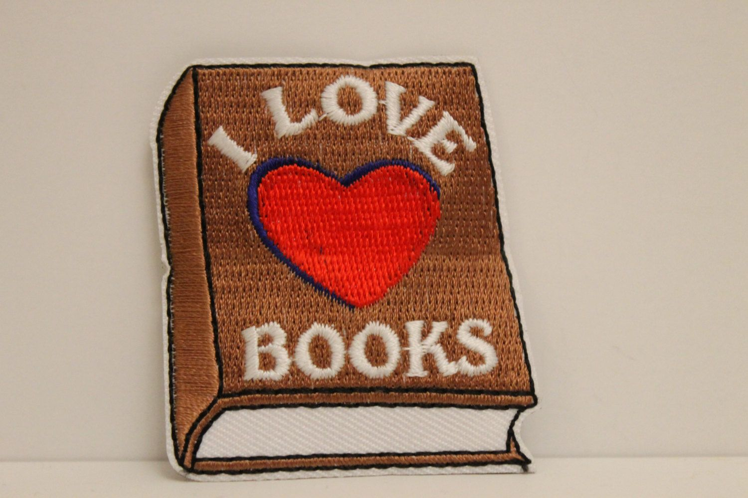 I Love Books Patch (1) - booklover bookworm scout library by GreyguyIndustries on Etsy