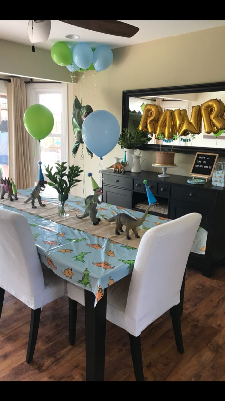 Dinosaur Party Decor Tablecloth From Target