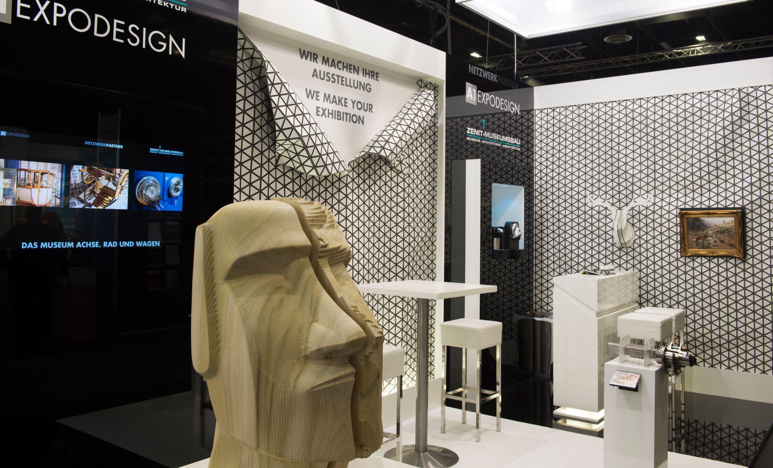 Zenit-Museumsbau auf der Exponatec- Messebau Köln