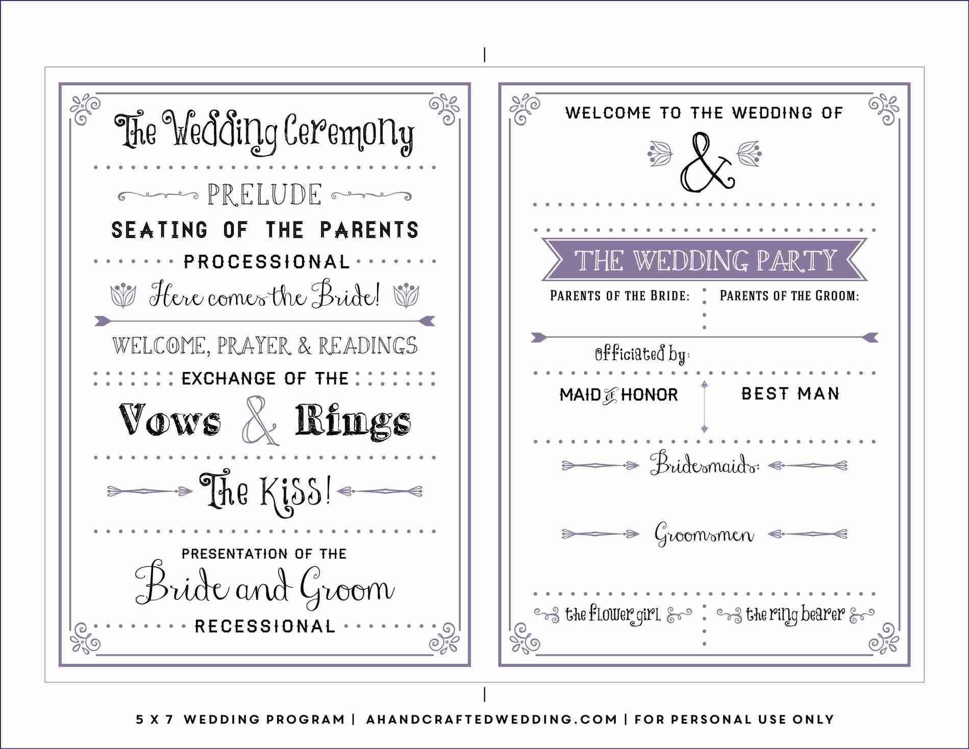 Free Downloadable Wedding Program Template That Can Be Regarding Free Printable Wedding Program Templates Word Best Template Ideas Proyectos