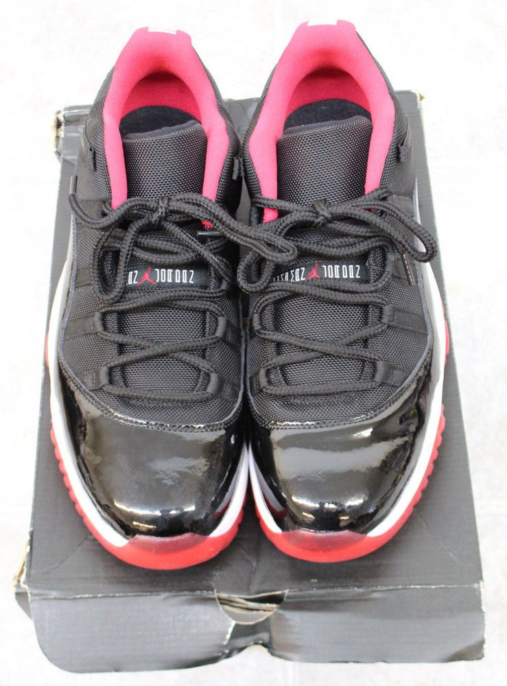 3b541c73701e eBay  Sponsored AIR JORDAN 11 RETRO LOW BRED MENS SIZE 13 528895-012 BLACK TRUE  RED-WHITE