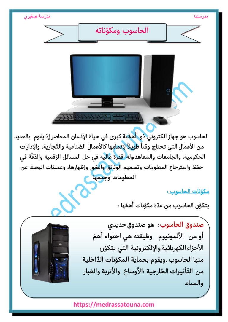 الحاسوب ومكوناته مدرستنا Amal