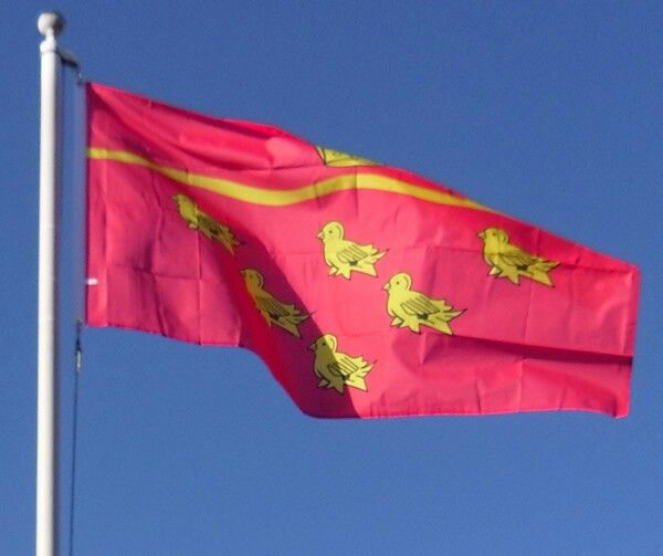 The Flag of East Sussex flying proudly.
