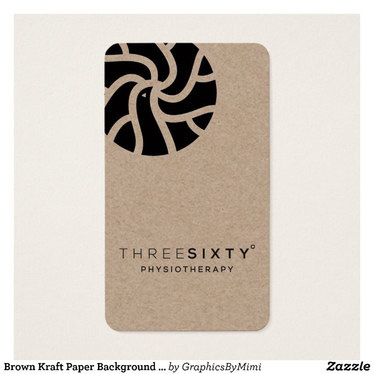 Brown kraft paper background printed business card paper brown kraft paper background printed business card zazzle reheart Gallery
