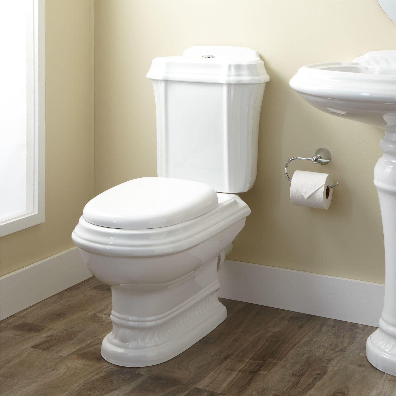 julian dual flush european rear outlet toilet two piece elongated white - Two Piece Bathroom Ideas