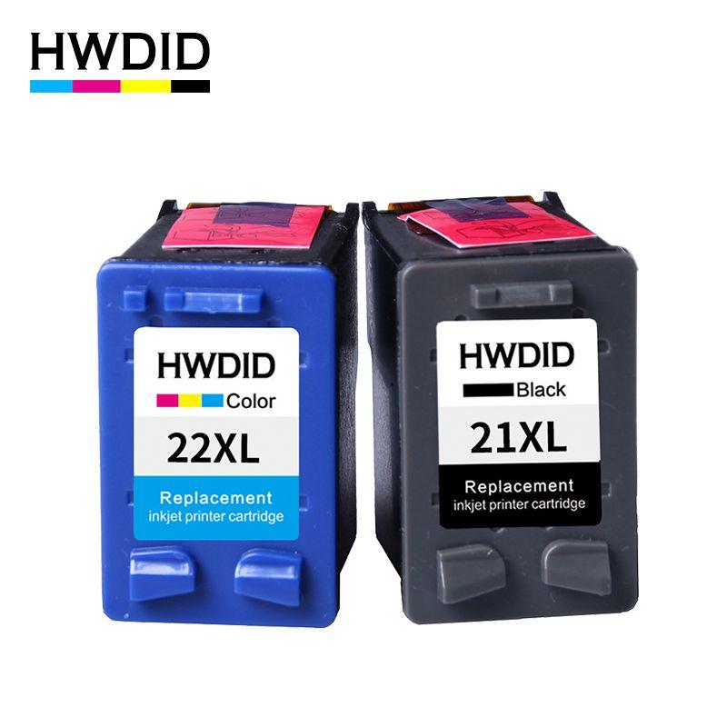 2 Pack Voor Hp 21 22 Inktcartridge C9351a C9352a 21xl 22xl Voor