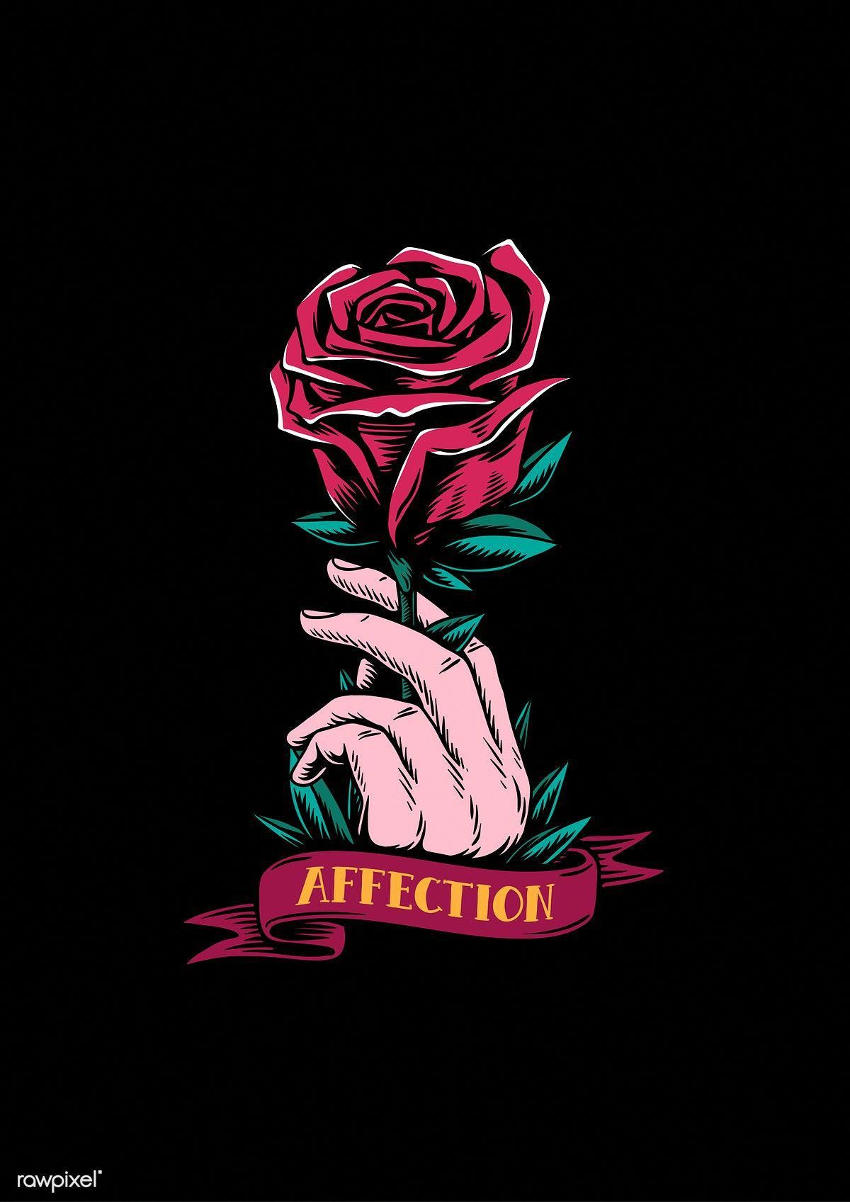 Black Wallpaper Iphone Dark Rose