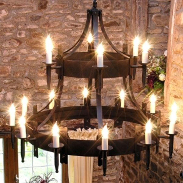 Medieval plates dunster wrought iron traditional 2 tier medieval plates dunster wrought iron traditional 2 tier chandelier tuscanor dunster aloadofball Gallery
