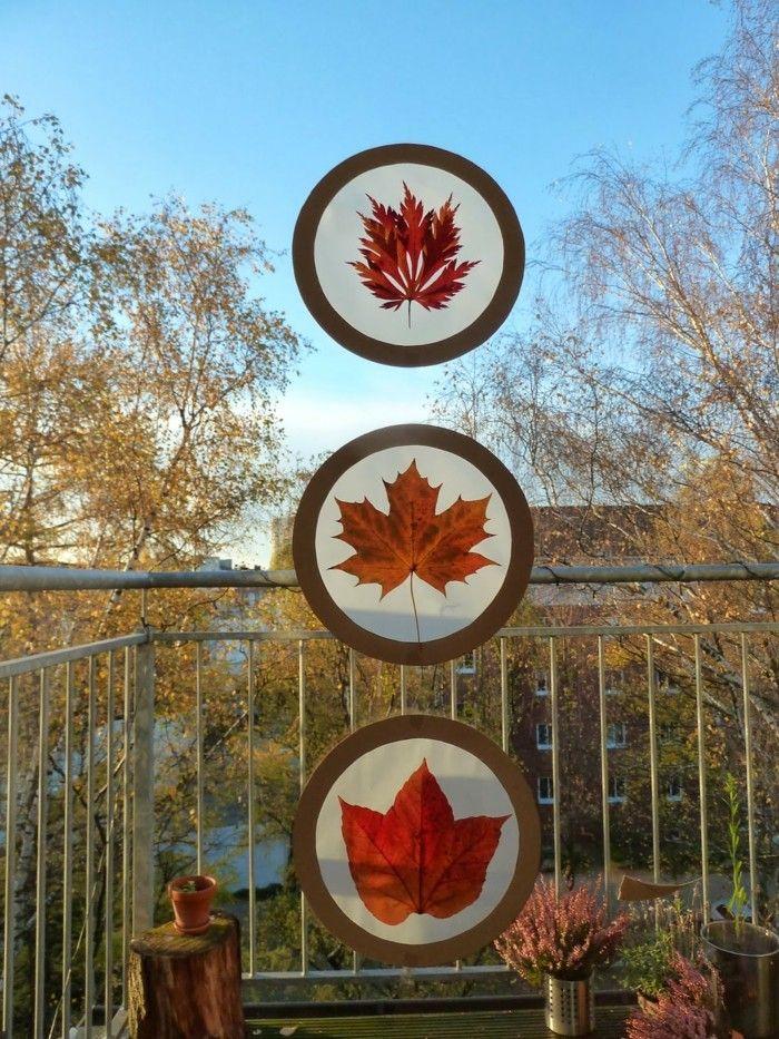 Fensterbilder basteln 64 diy ideen f r stimmungsvolle for Herbstangebote kita