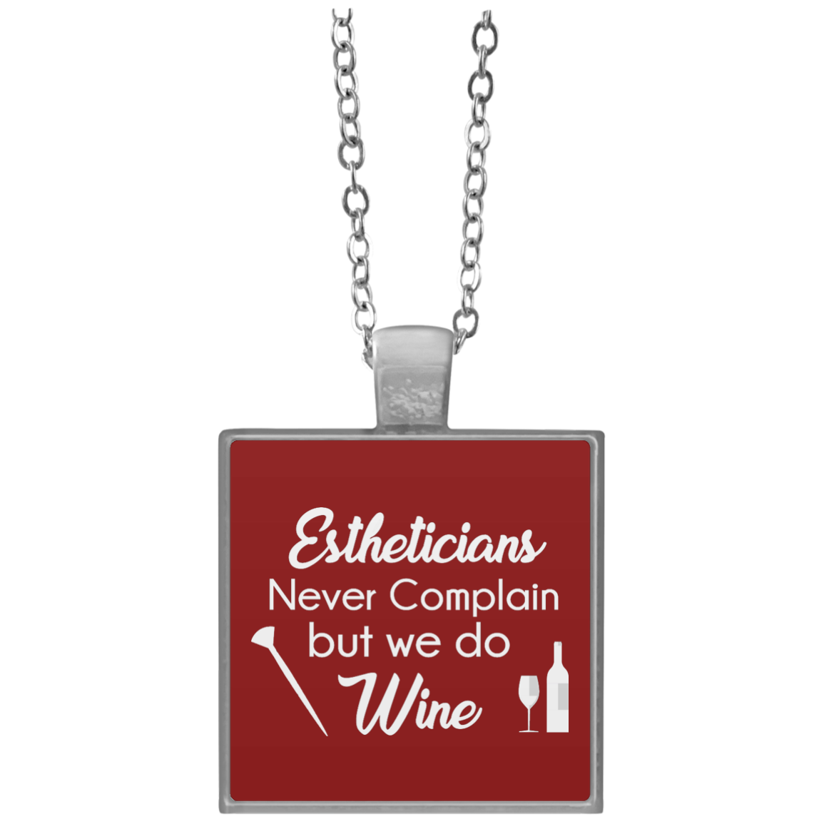 Estheticians Wine Necklace Square necklace, Necklace