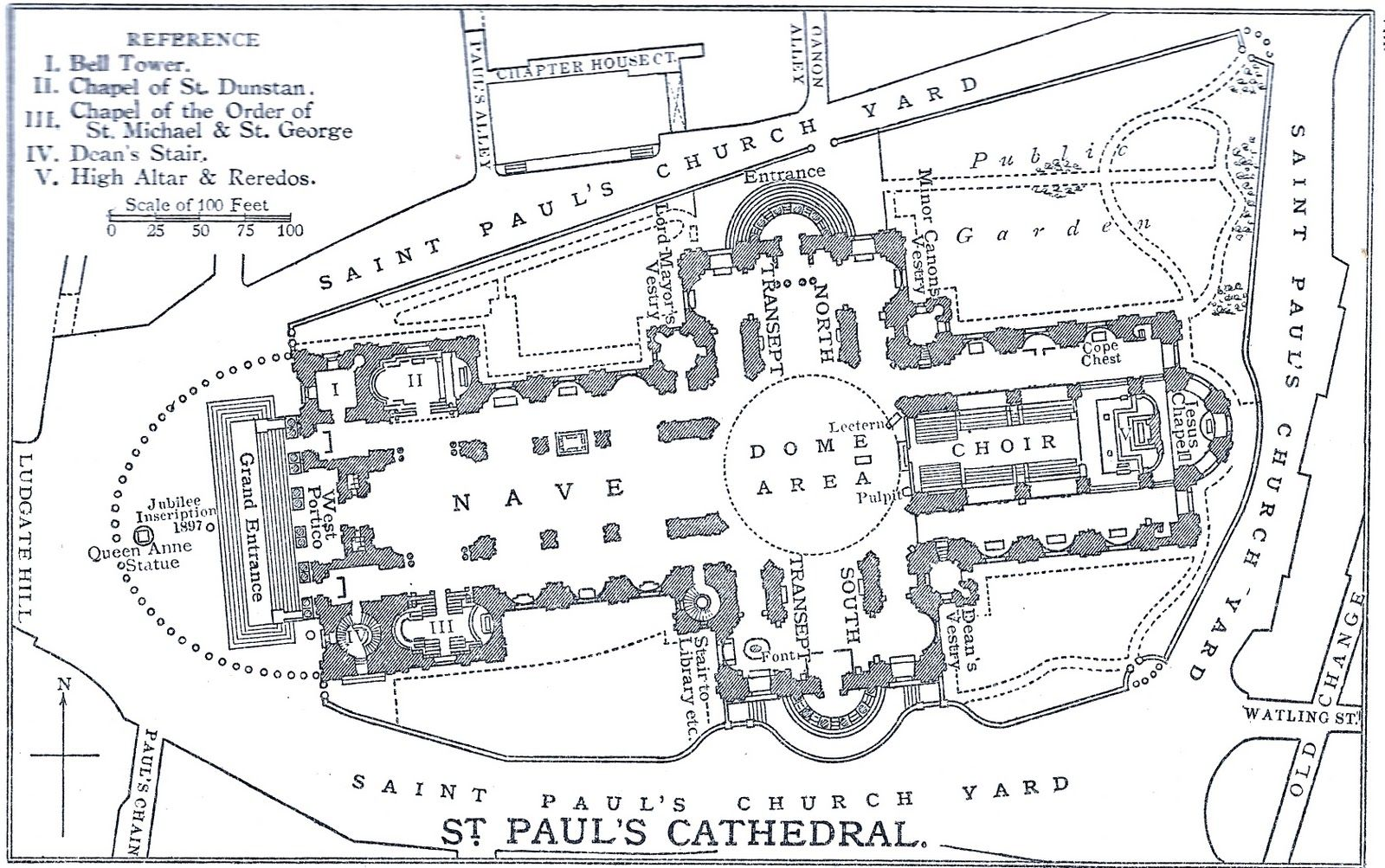 St Paul Cathedral Floor Plan