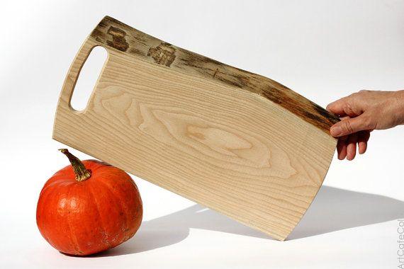 Beige kitchen wooden cutting board  Serving by ArtCafeColibri, $25.00
