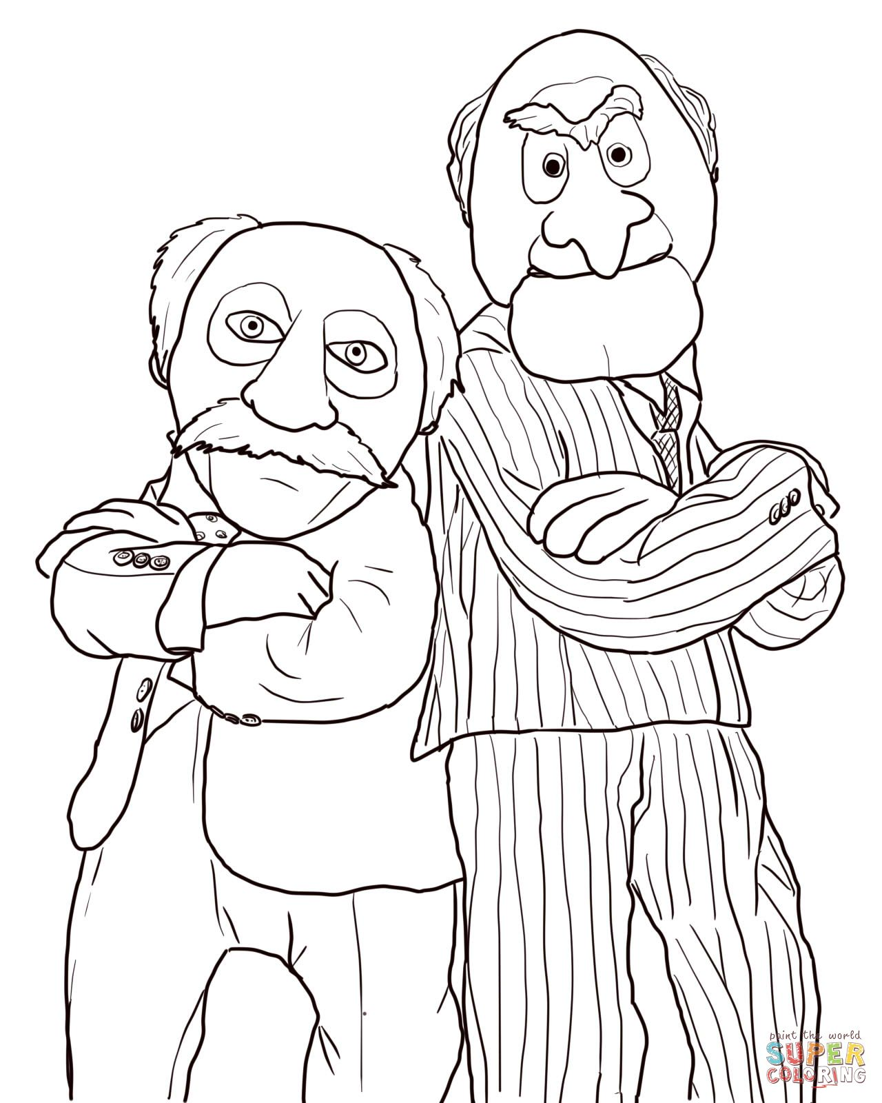statler and waldorf coloring pages 5 colouring pictures
