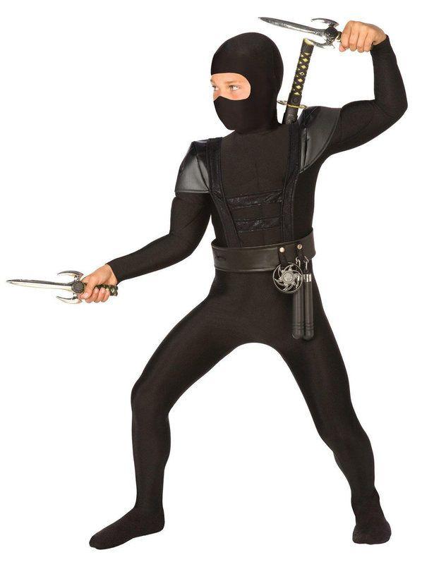 Black Fighter Ninja Costume For Children  sc 1 st  Pinterest & $27. Black Fighter Ninja Costume For Children | Kids Halloween ...