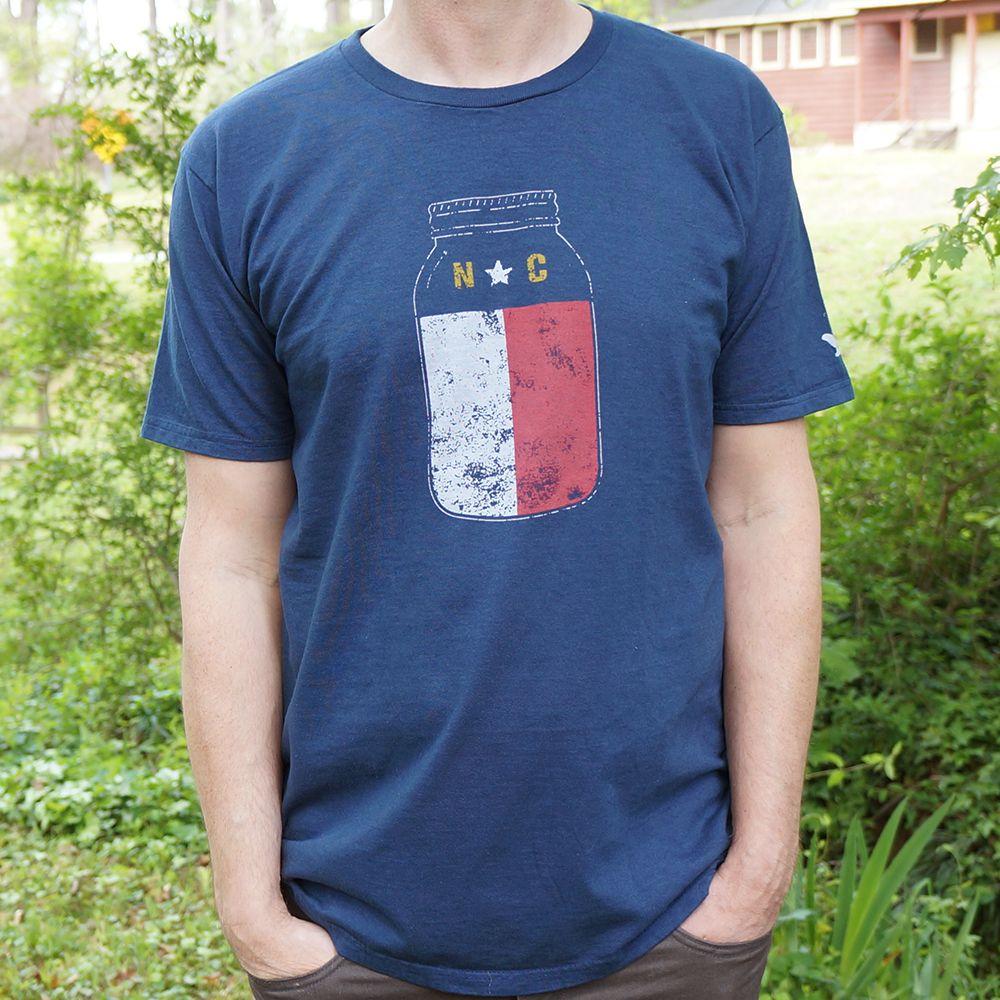 North Carolina Mason Jar T Shirt North Carolina Apparel