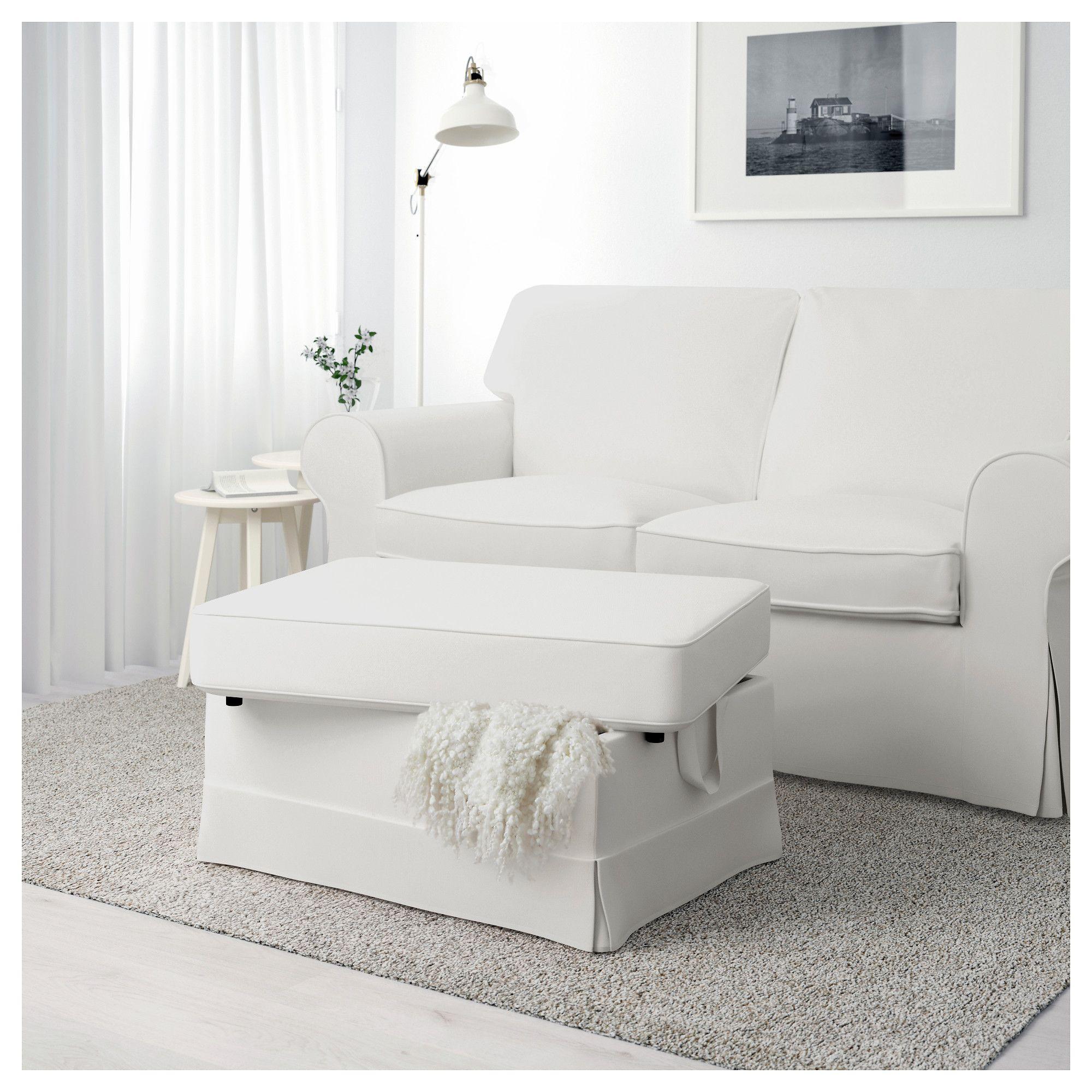 Ektorp Footstool Vittaryd White Wohnzimmer Sofa Ikea Hocker