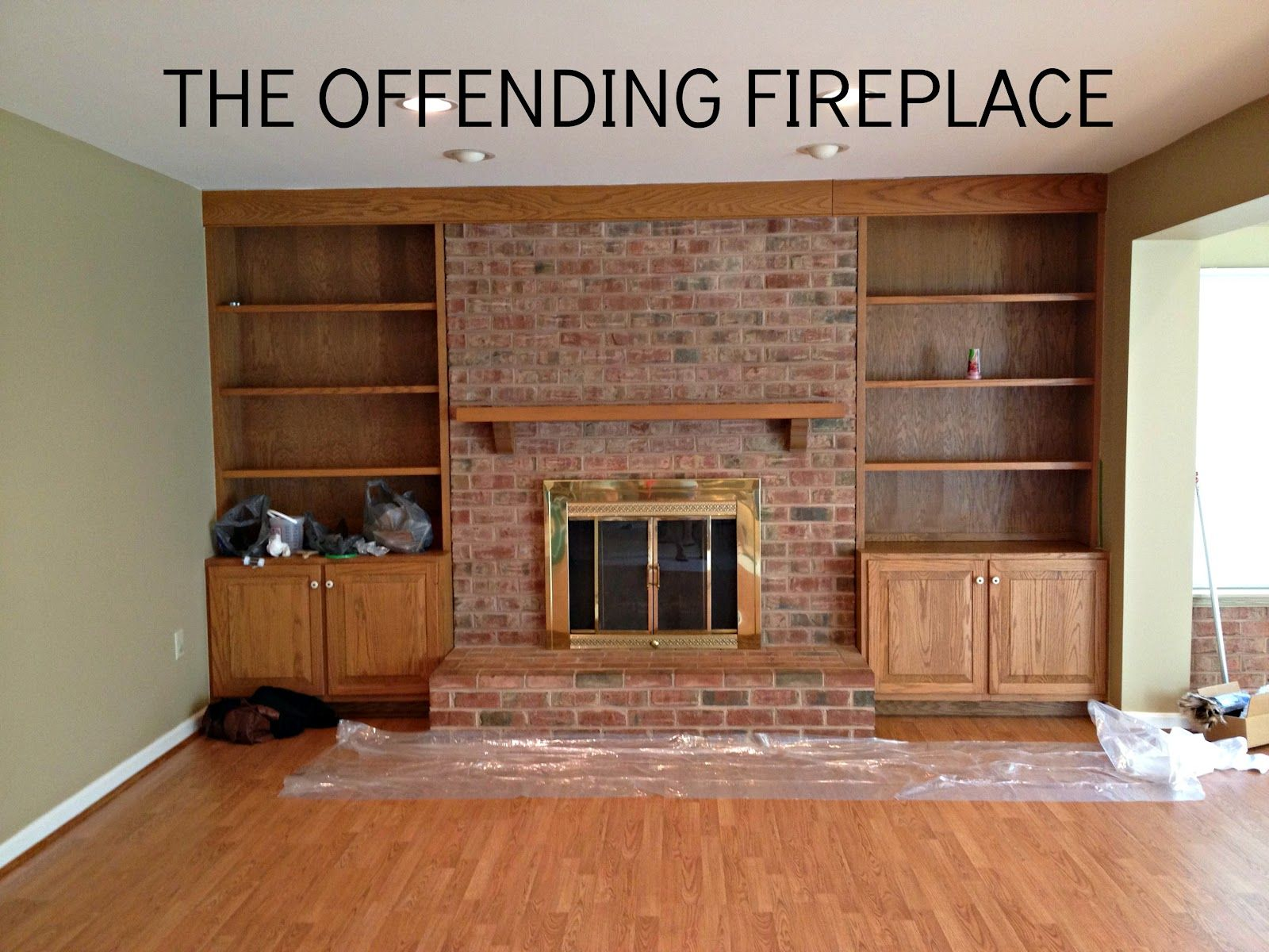 How to paint a brick fireplace fireplace update brick fireplace