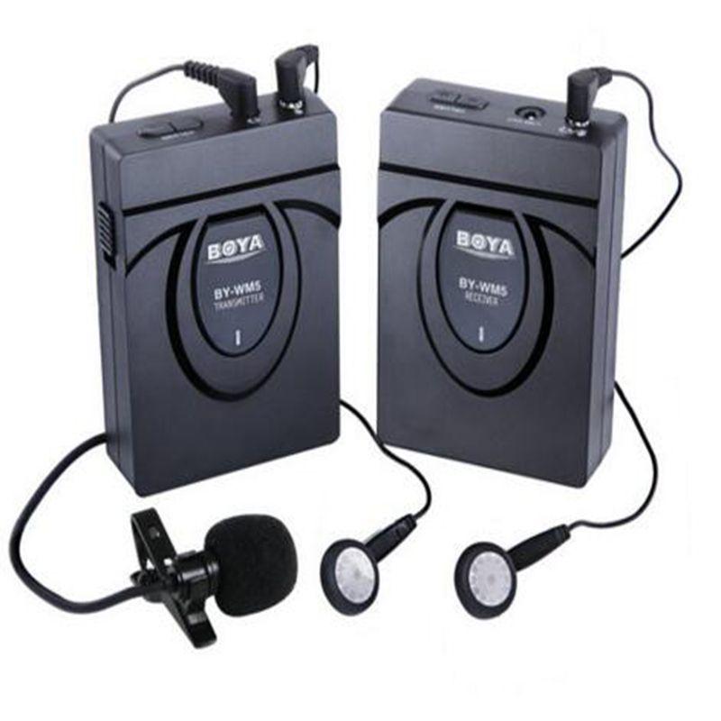 BOYA BY-WM5 Wireless Lavalier Microphone Microphones System for