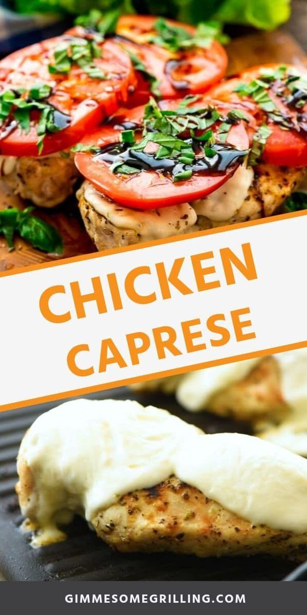 Poulet Caprese - Gimme Some Grilling ®