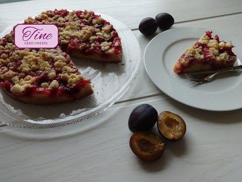 Zwetschgendatschi - Zwetschgen-Kuchen mit Mürbeteig und Butterstreusel - YouTube