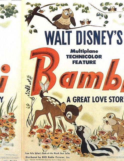 Bambi Disney Movie Posters Vintage Disney Posters Disney Posters
