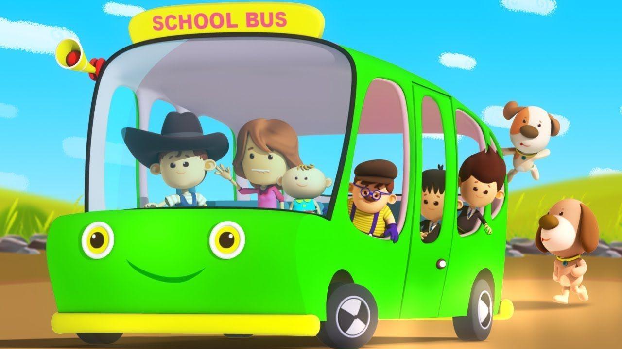Green Wheels On The Bus Nursery Rhymes Baby Songs Children