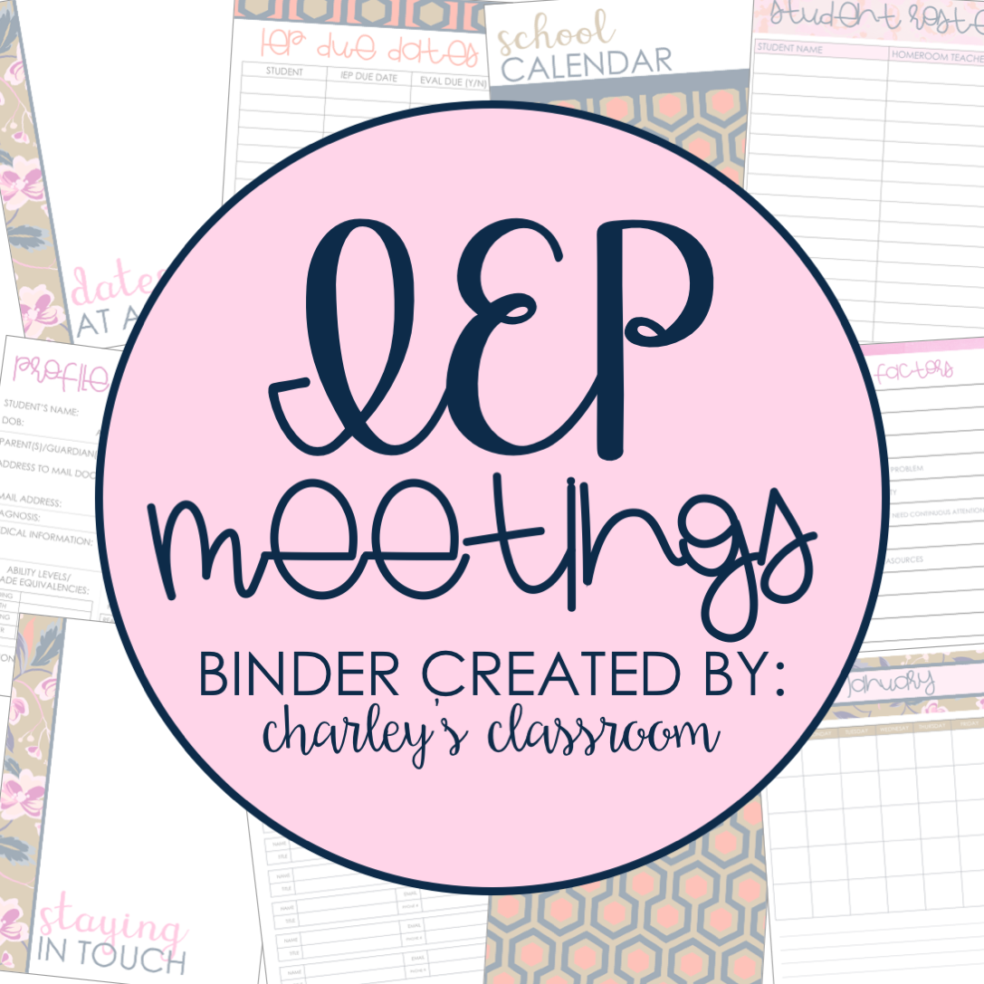 IEP Meetings For The Year (Just Darling)