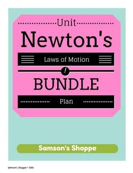 Newton S Laws Of Motion Ngss Stem And Activity Unit Newtons Laws