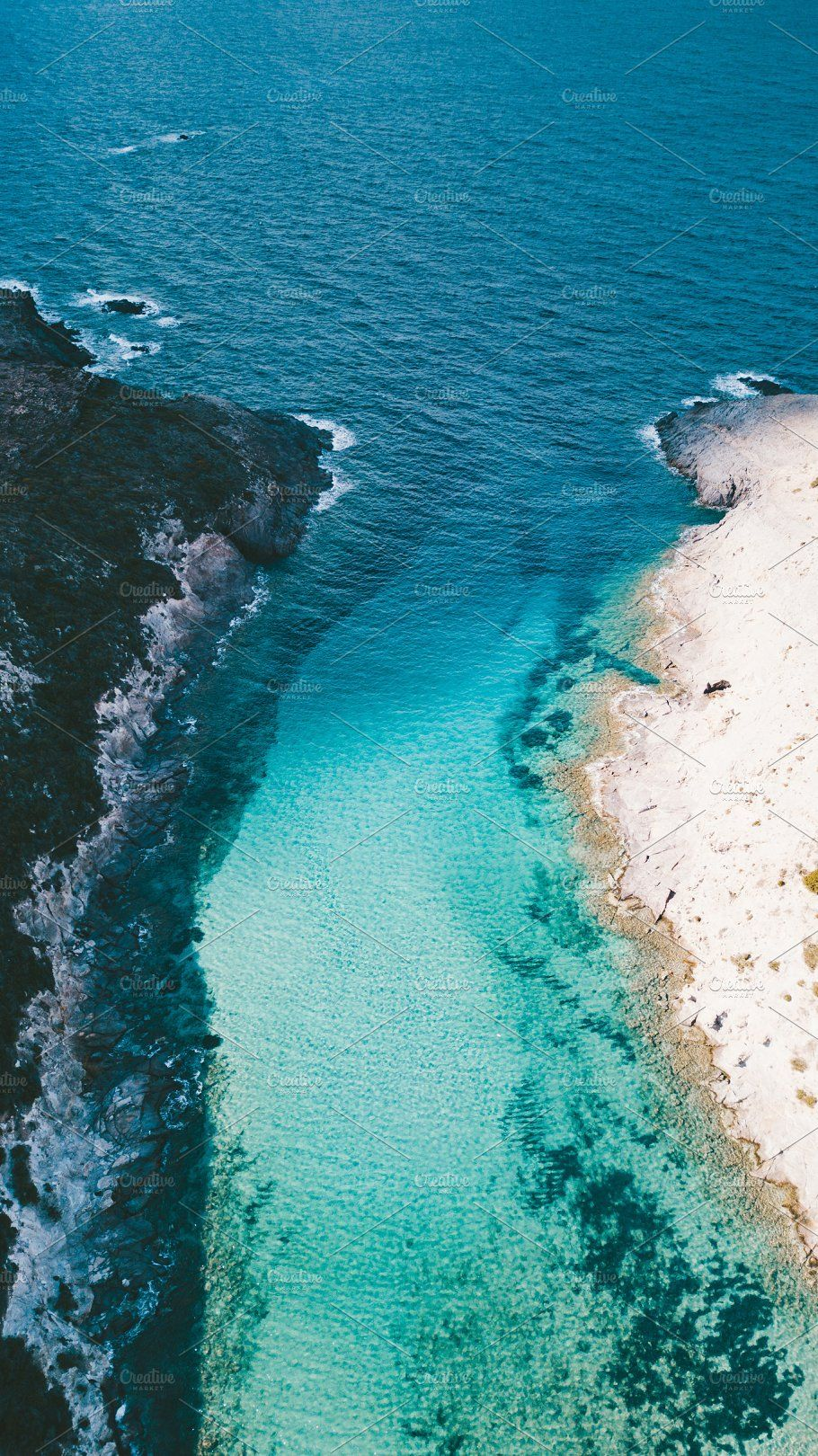 Aerial view of the amazing sea Ocean photography, Ocean