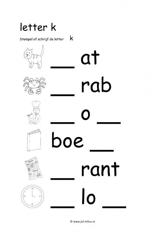 letters oefenen groep 2 werkbladen kg48