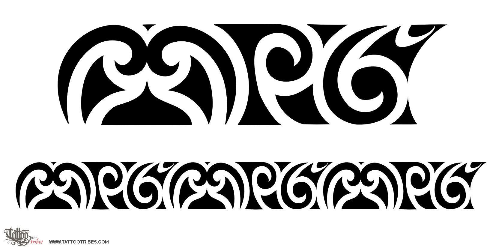 Maori Band Tattoo Design: Armbands Download Tattoo Maori Patterns Koru Bands Pattern
