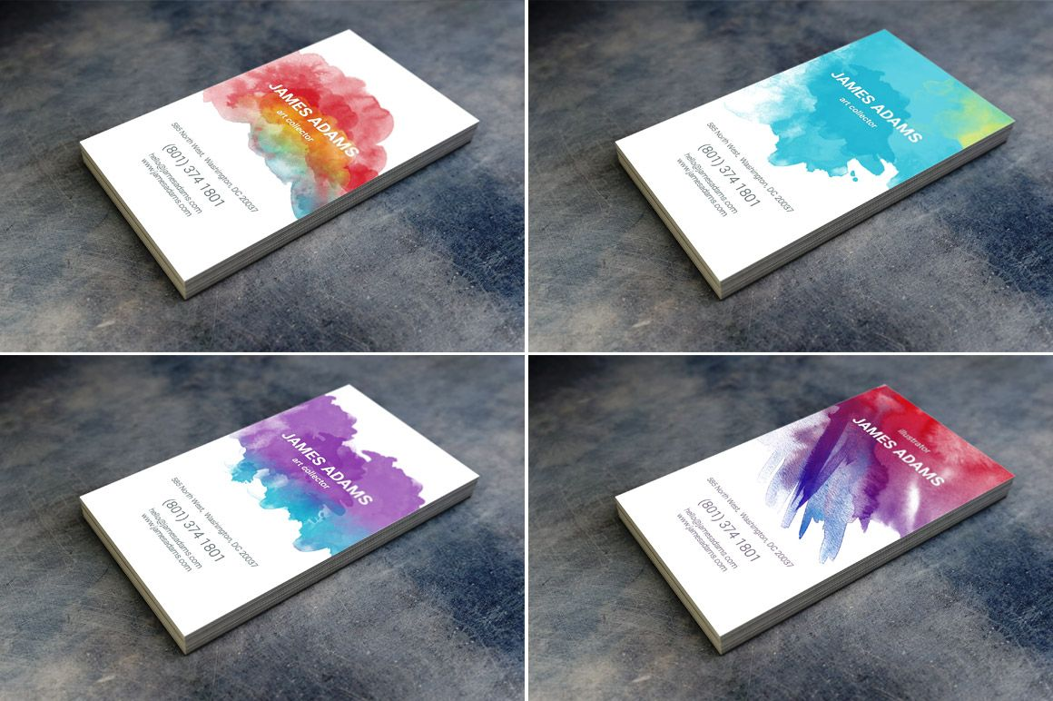 15 watercolor business cards watercolor business cards business 15 watercolor business cards reheart Gallery