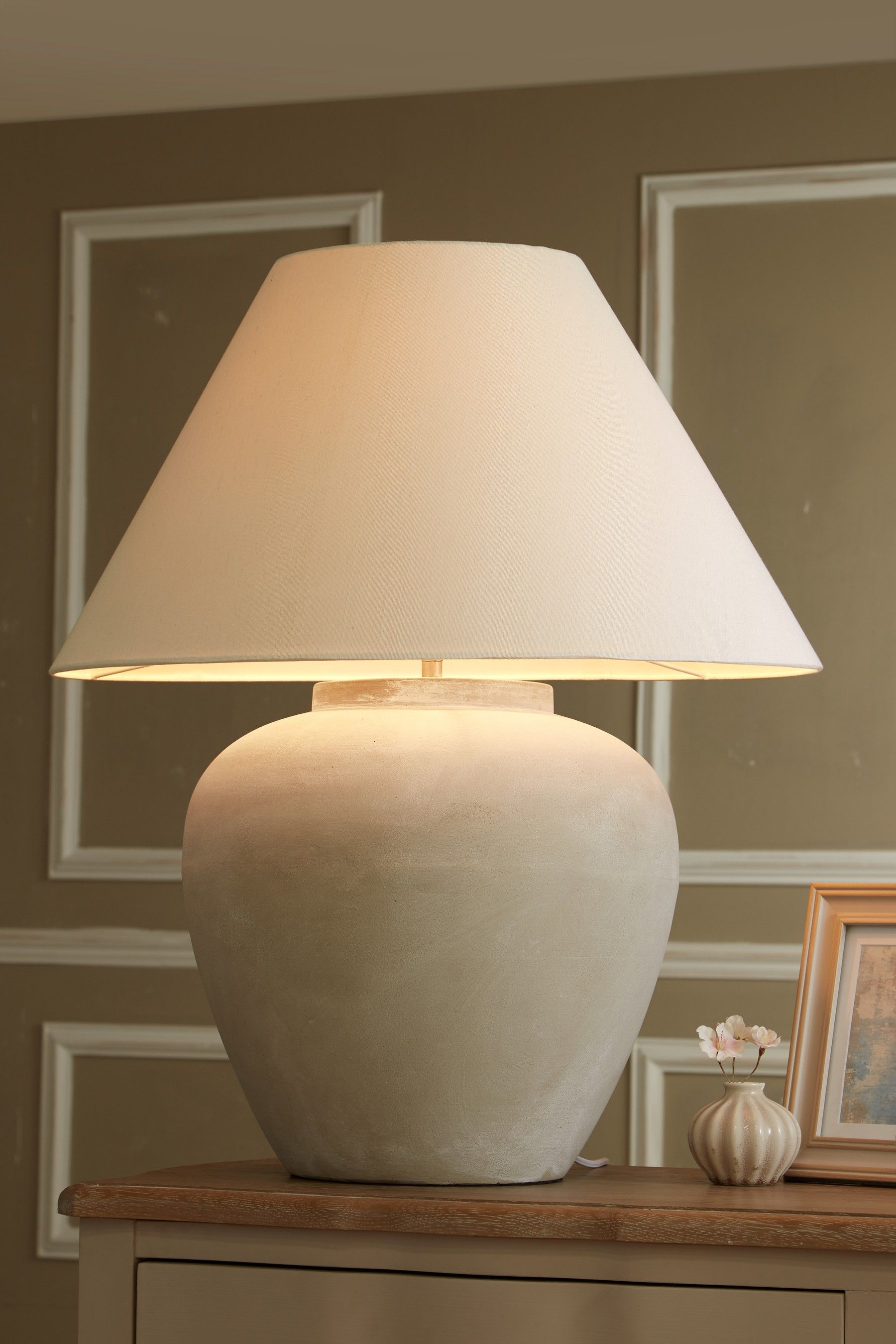 Next Extra Large Lydford Table Lamp Grey Large Table Lamps