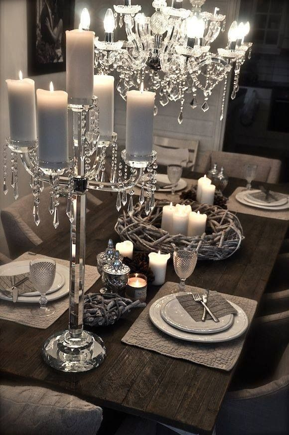 Dining Table Silver And Mirrored Theme Luxury Dining Room