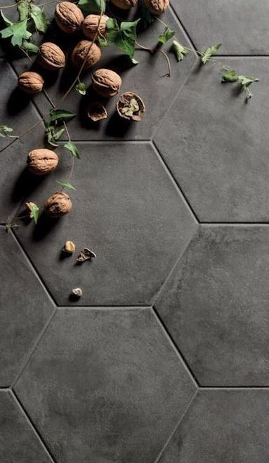 Black Fox Porcelain 8 Quot Hexagon Matte Tile In 2019 Man