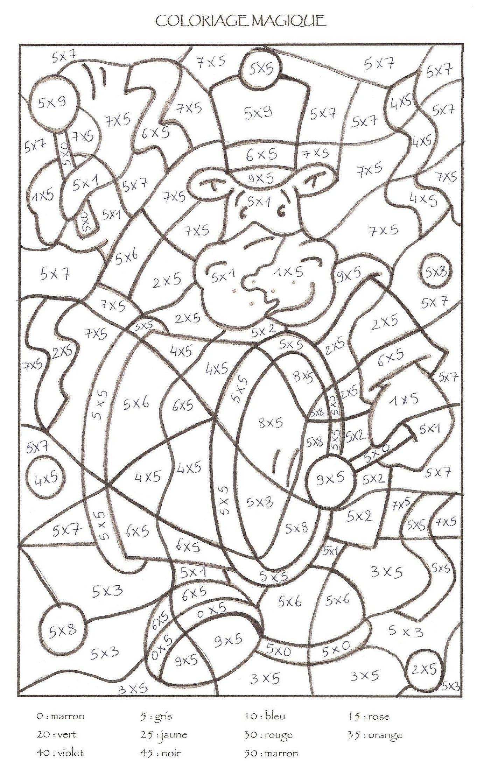 Coloriage magique cp colorier dessin imprimer - Coloriages magiques ce1 ...