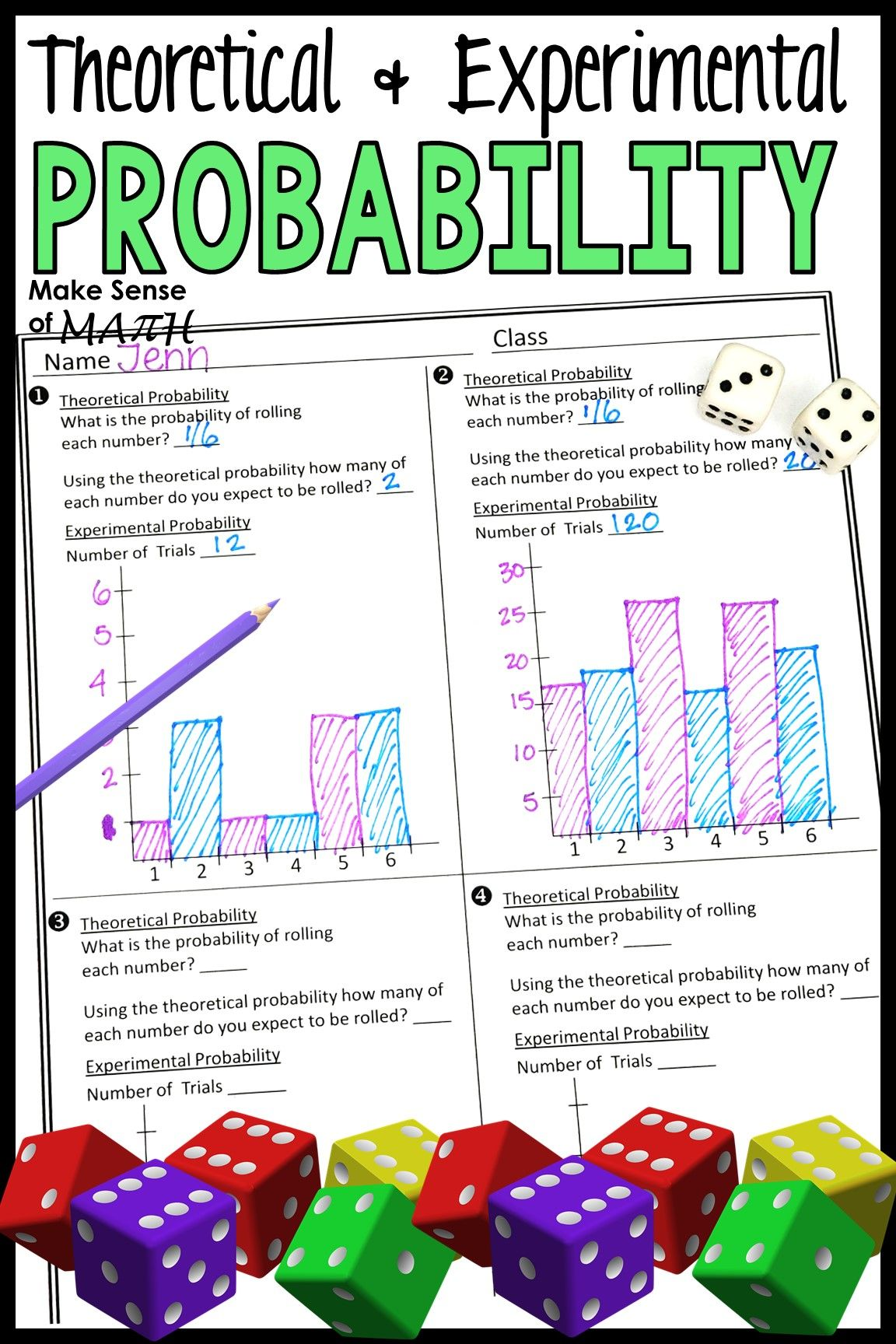 Probability Activity For Middle School Math Probability Lesson In 2020 Probability Activities Pre Algebra Activities Maths Activities Middle School