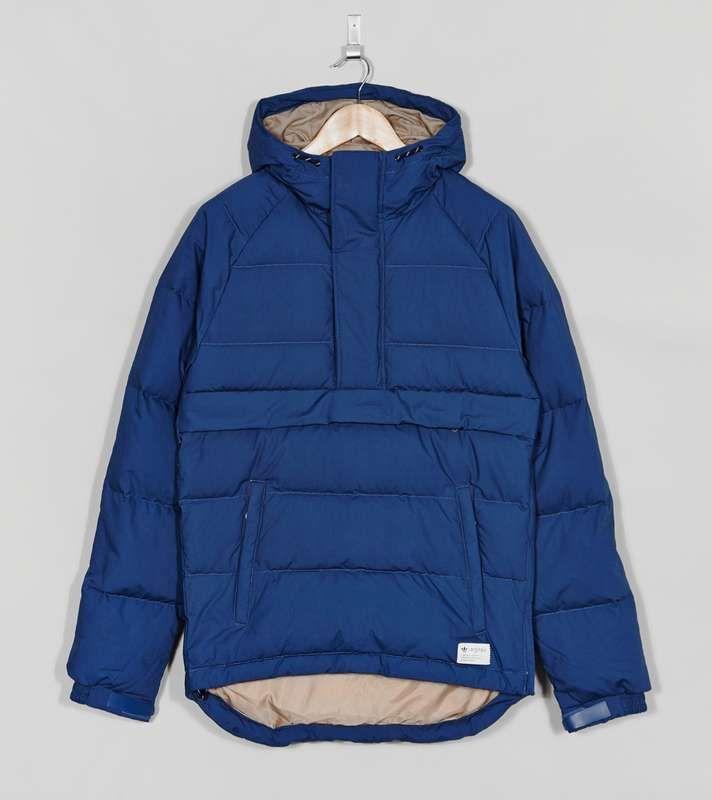 7fa9fe876f66 adidas Originals Blue Overhead Down Parka   Size  Impermeable, Ropa De  Hombre, Chaquetas