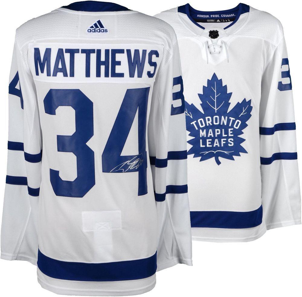 6681d410b Auston Matthews Toronto Maple Leafs Autographed White Adidas Authentic  Jersey  NHL  Hockey