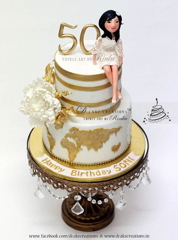 Personalised 50th Birthday Cake Cake For Ladies In 2019