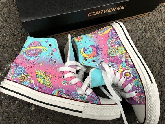 3a99dc1e68e Custom Galaxy Converse, Custom Galaxy Sneakers, Painted Nebula Converse,  Painted Galaxy Shoes, Brida