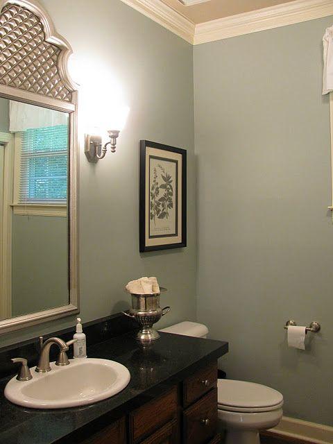 Beautiful color on bathroom walls Sherwin Williams \