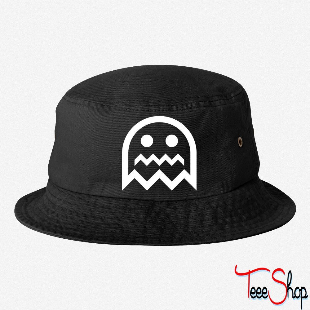Ghost Outlined bucket hat