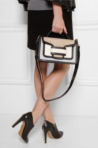 Pierre Hardy|Color-block leather shoulder bag