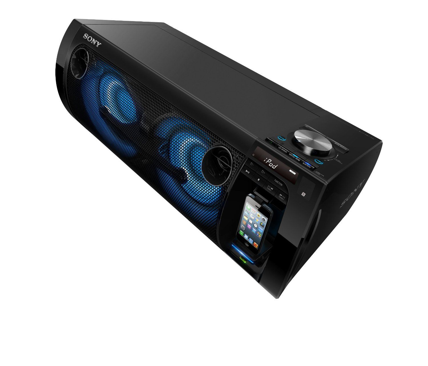 Sony Portable Party System Brings The Volume Wherever You Go Ipod Touch 5th Generation Ipod Nano Party Speakers
