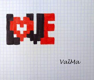 Les Créas De Valma Dessin Pixel Pixel Art Anime Et Pixel