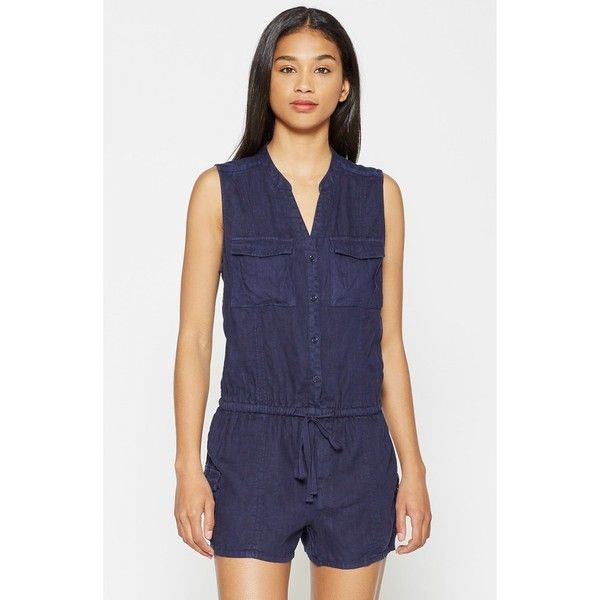 7263b860048a Joie Apoline Linen Romper ( 238) ❤ liked on Polyvore featuring jumpsuits