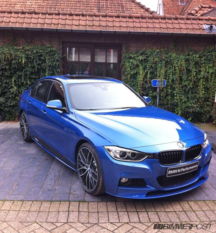 Bmw M Performance Parts On Estoril Blue And Mineral Grey F30 3